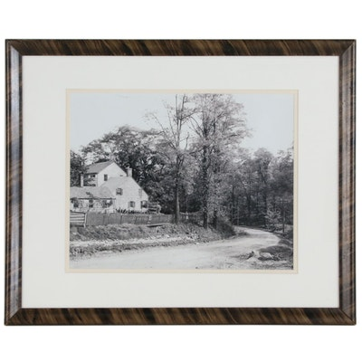 """Silver Gelatin Photograph of """"Hay Fever"""" House, Locust Valley, New York"""