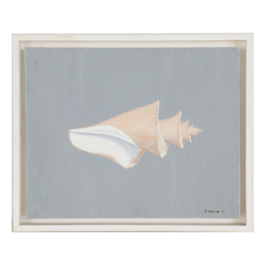 """Oil Painting """"Japanese Wonder Shell"""", 2001"""