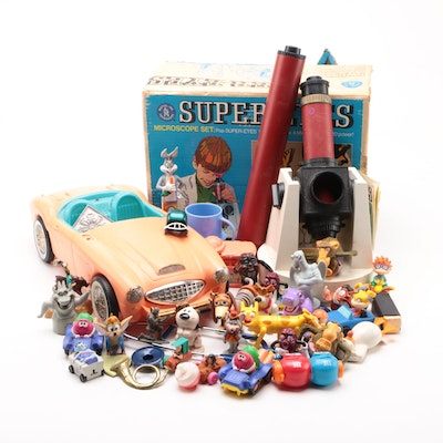 """1969 Mattel """"Super-Eyes"""" Microscope Set, Barbie Car, Action Figures, and More"""