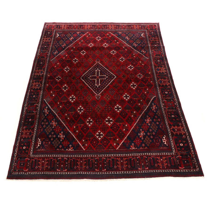 9'5 x 13' Hand-Knotted Afghani Balouch Rug