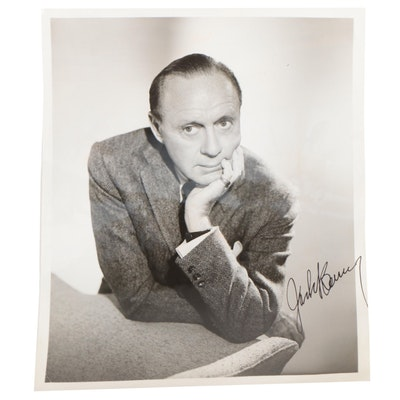 Jack Benny Signed Legendary Radio Star Performer and Actor Photograph, 1960