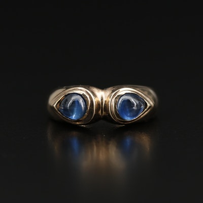 14K Sapphire Two Stone Ring