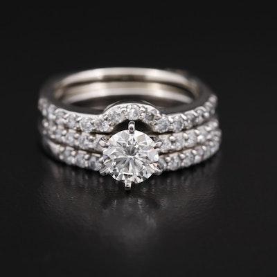 A.Jaffe Platinum 2.00 CTW Diamond Ring Set
