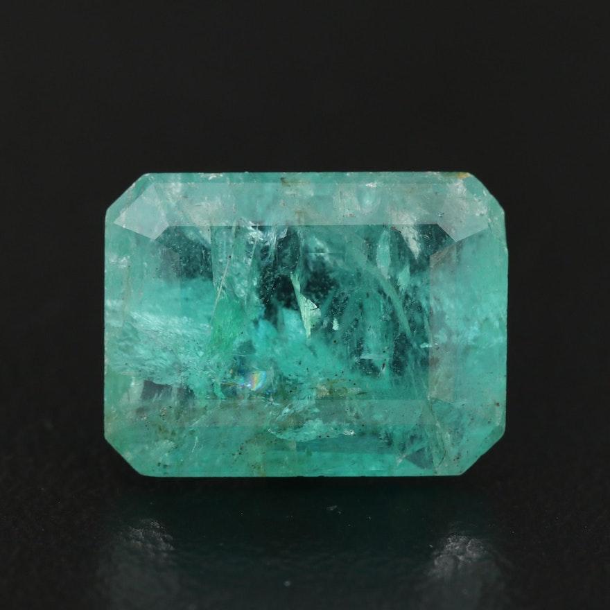 Loose 4.88 CT Rectangular Emerald
