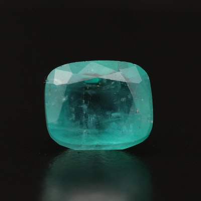 Loose 3.71 CT Cushion Cut Emerald