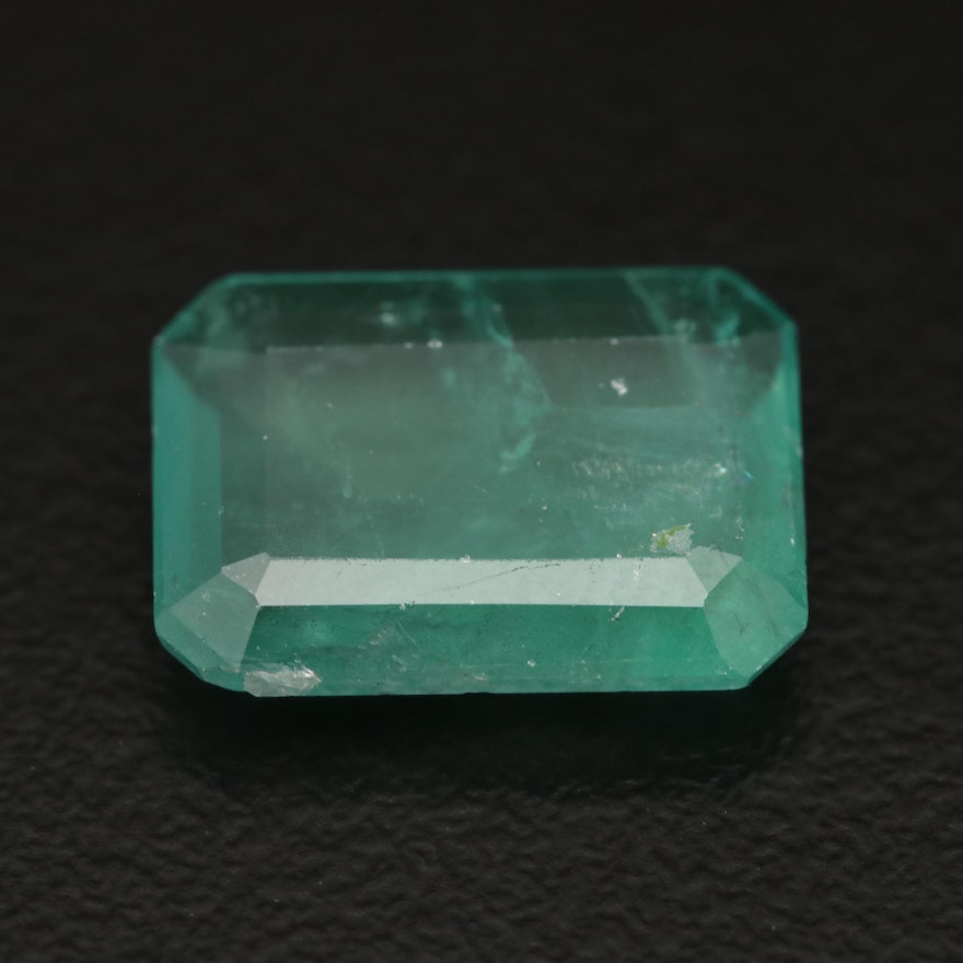 Loose 5.03 CT Rectangular Emerald