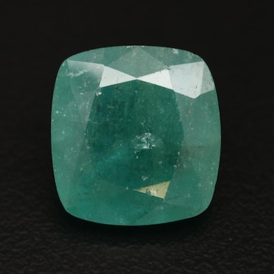 Loose 8.96 CT Square Cushion Faceted Emerald