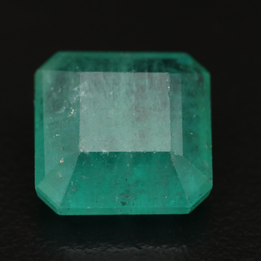 Loose 8.26 CT Square Faceted Emerald