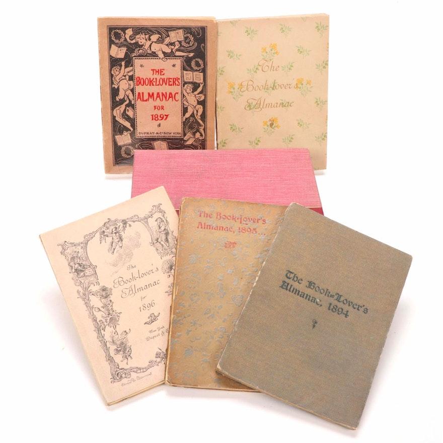 """""""The Book-Lover's Almanac"""" by Henri Pene du Bois, Ed., Complete Set, 1893-97"""