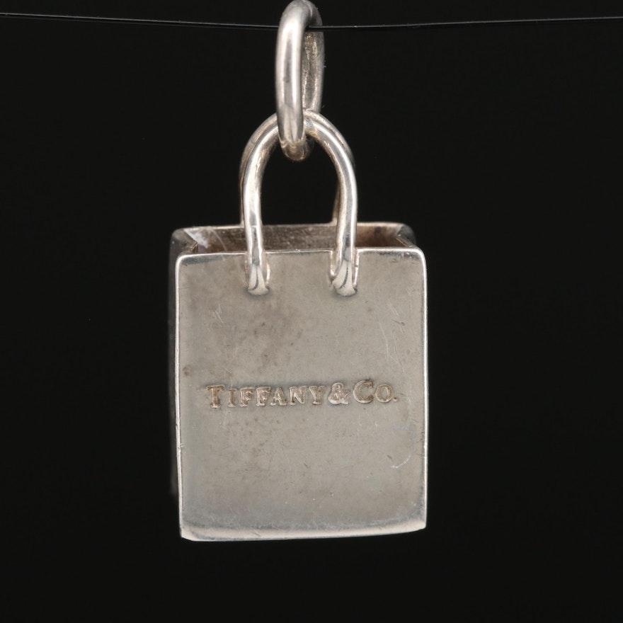 Tiffany & Co. Sterling Silver Shopping Bag Charm