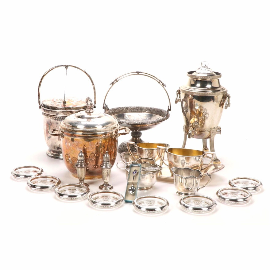 Weighted Sterling and Silver Plated Serveware and Table Accessories, 20th C.
