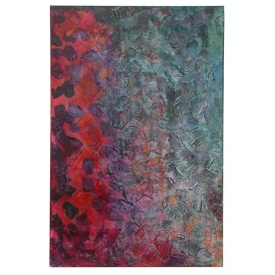 "Randy Jacobs Abstract Acrylic Painting ""Sunrise & Sunset"""