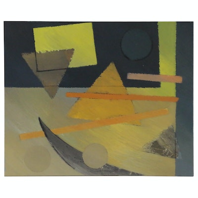 Walter Stomps Geometric Abstract Acrylic Painting