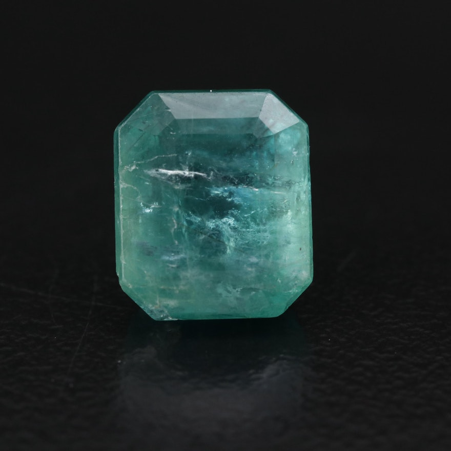 Loose 3.78 CT Rectangular Emerald with GIA Report