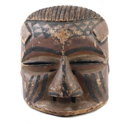 Kuba Style Carved Wooden Helmet Mask, Democratic Republic of the Congo