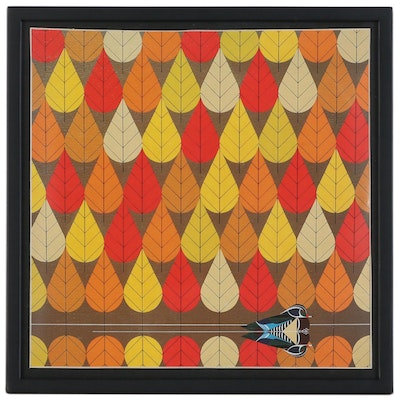 "Offset Lithograph After Charley Harper ""Octoberama"""