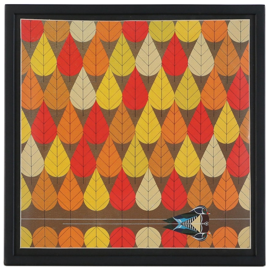 """Offset Lithograph After Charley Harper """"Octoberama"""""""