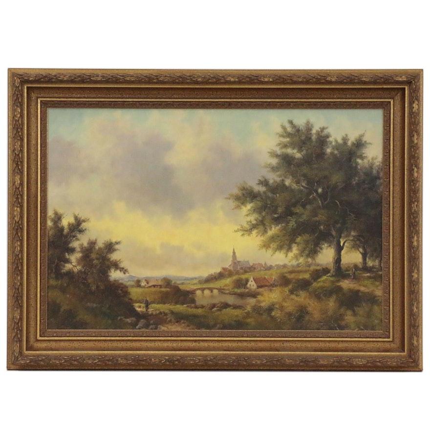 Stephan De Haan Oil Landscape Painting