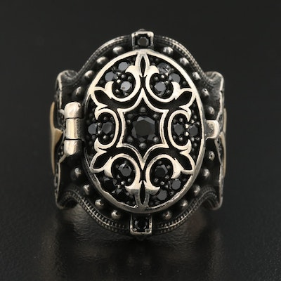 Sterling Silver Cubic Zirconia Poison Ring