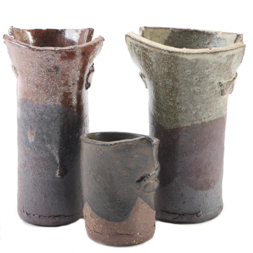 John Tuska Ceramic Slab Vessels, Mid to Late 20th Century