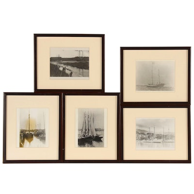 Silver Gelatin Photographs of Fishing Boats and Schooners, Late 20th Century