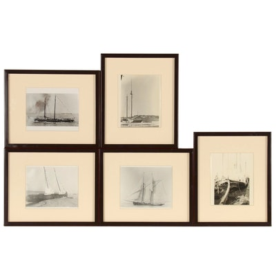 Silver Gelatin Maritime Photographs of Schooners, Late 20th Century