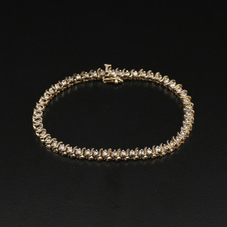 14K 1.75 CTW Diamond S-Link Bracelet