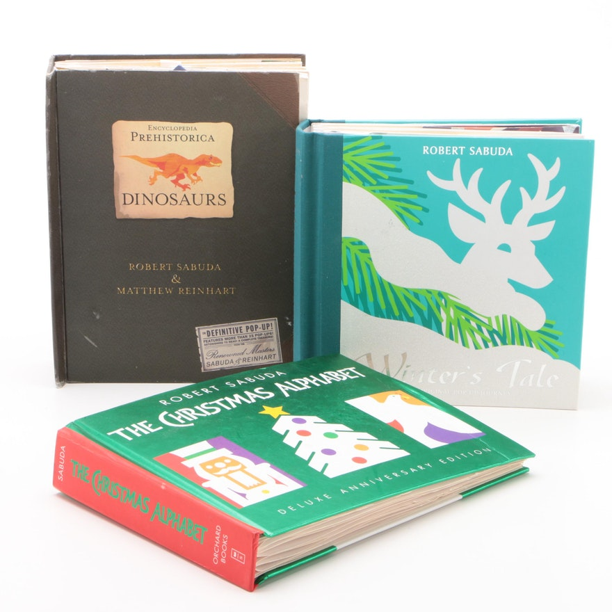 Robert Sabuda Pop-Up Books Including Christmas and Dinosaur Themed Books