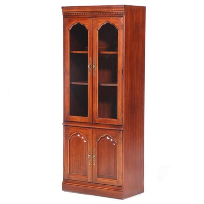 Colonial Style Cherrywood Display Cabinet, Late 20th Century