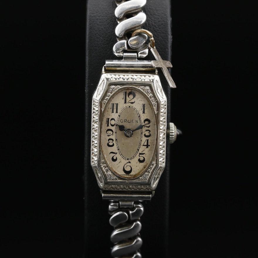 1920's Gruen Cartouche Gold Filled Wristwatch