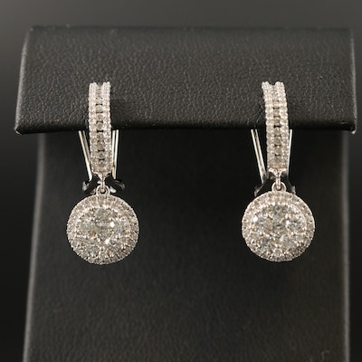 14K 1.92 CTW Diamond Drop Earrings