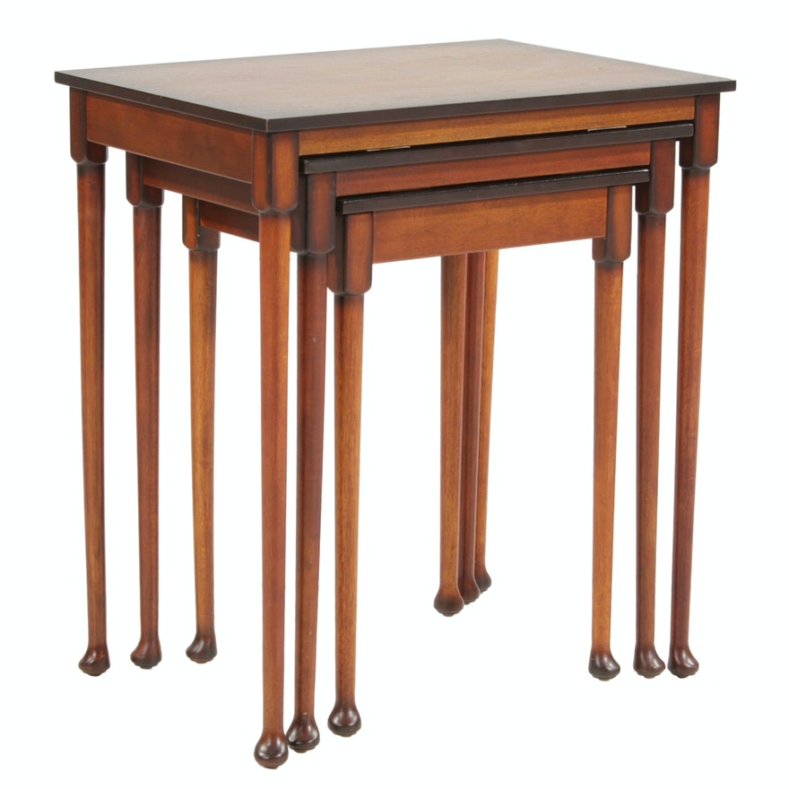 The Bombay Company Wood Nesting Tables, Late 20th Century