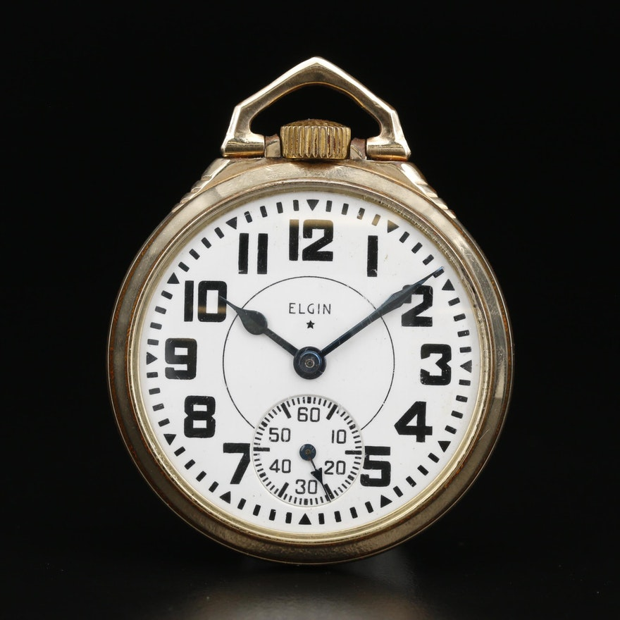 1943 Elgin Railroad Grade B.W. Raymond 10K Gold Filled Pocket Watch