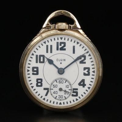 1933 Elgin Railroad Grade 10K Gold Filled Pocket Watch