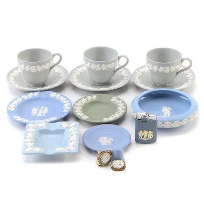 Wedgwood Jasperware Teacups, Saucers, Ashtrays, and More