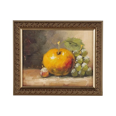 Still Life Oil Painting of Fruit