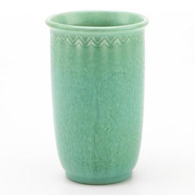 Rookwood Pottery Incised Matte Glaze Production Vase, 1945