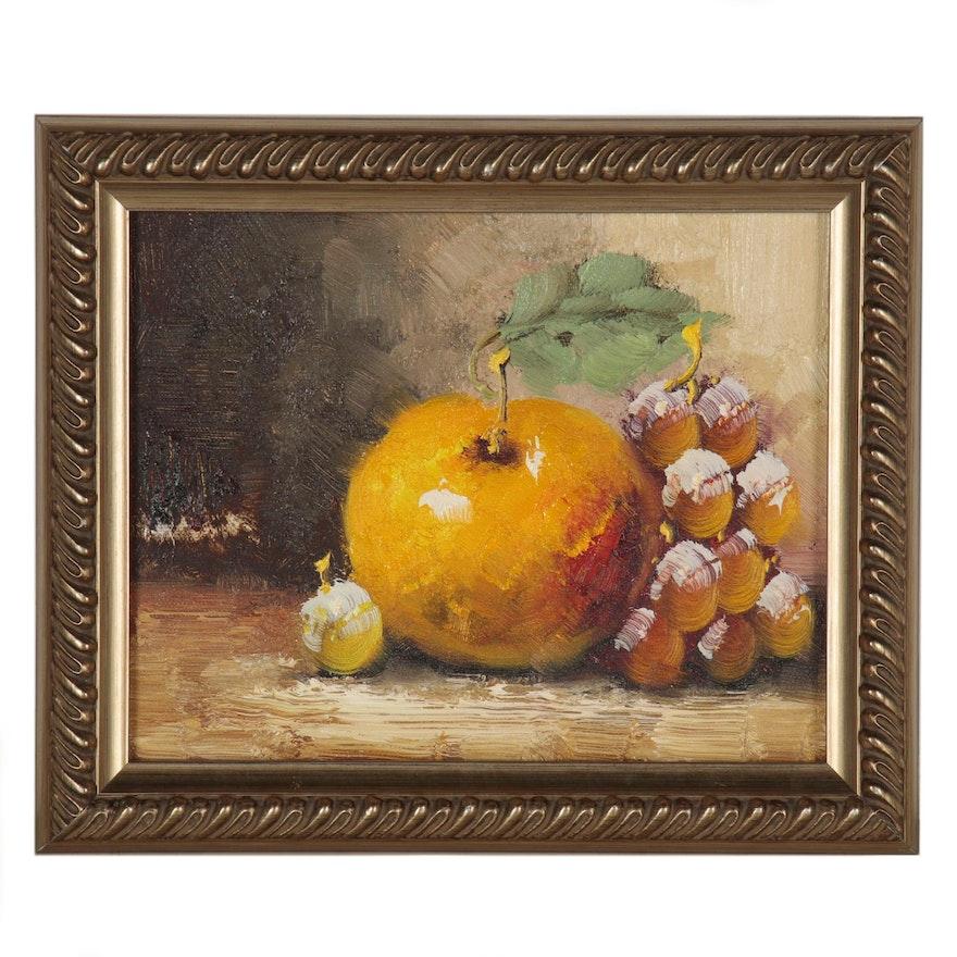 Still Life Oil Painting of Fruit, 21st Century