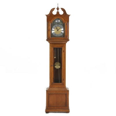 Elgin Walnut Case Grandmother Clock, 21st Century