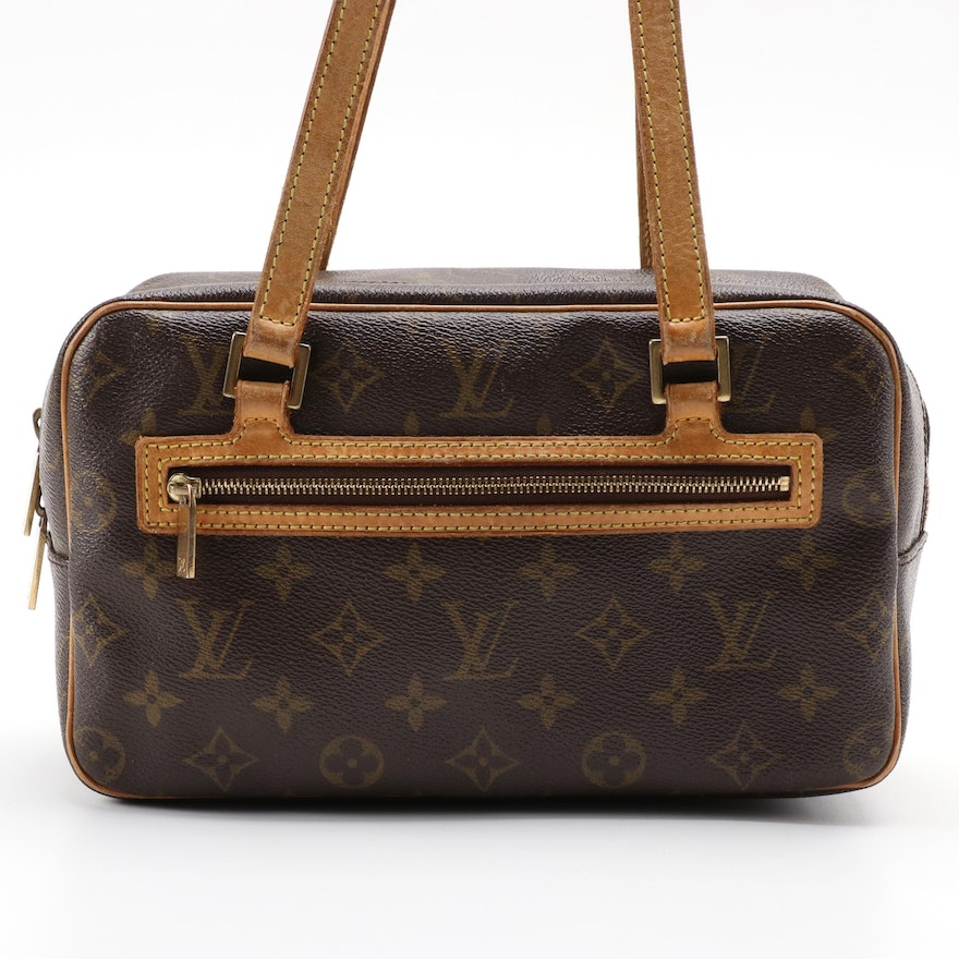 Louis Vuitton Cite MM Bag in Monogram Canvas with Leather Trim