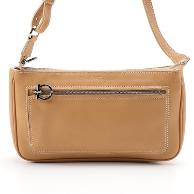 Salvatore Ferragamo Tan Calf Leather Mini Shoulder Bag
