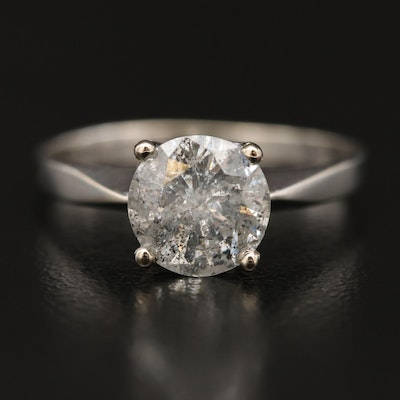 14K 1.50 CT Diamond Solitaire Ring