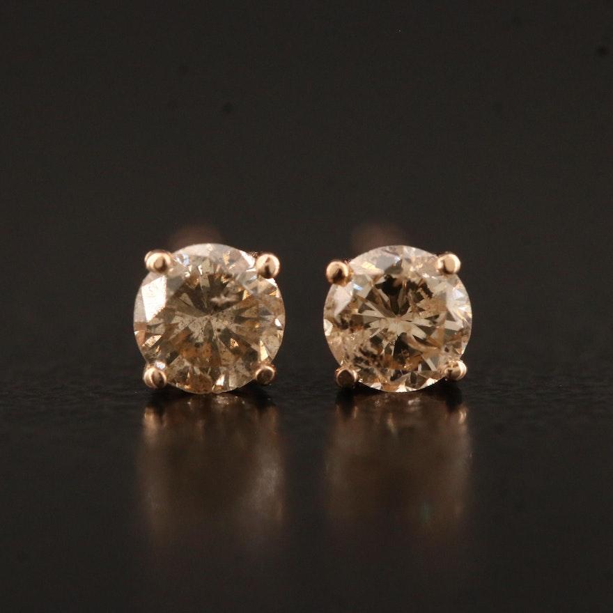 14K 0.34 CTW Diamond Stud Earrings