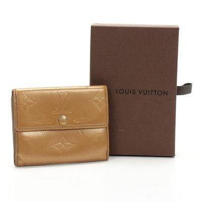 Louis Vuitton Elise Wallet in Monogram Vernis