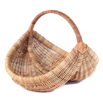 Woven Wicker Buttocks Basket