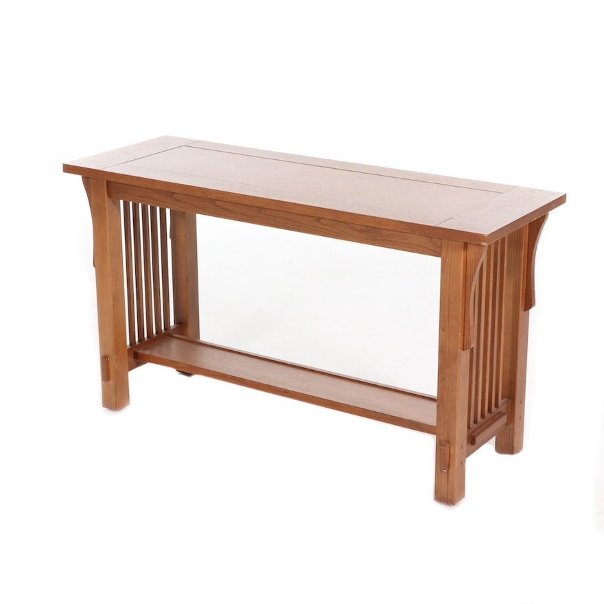 Arts and Crafts Style Oak Sofa Table
