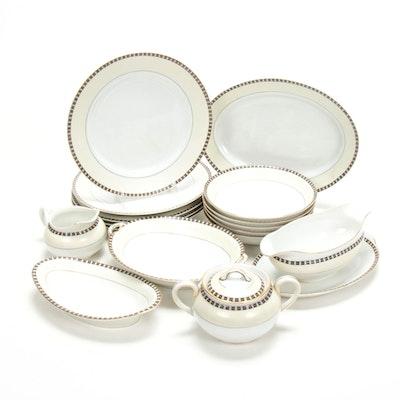 "Noritake ""Lafayette"" Porcelain Dinnerware and Serveware, 20th C."