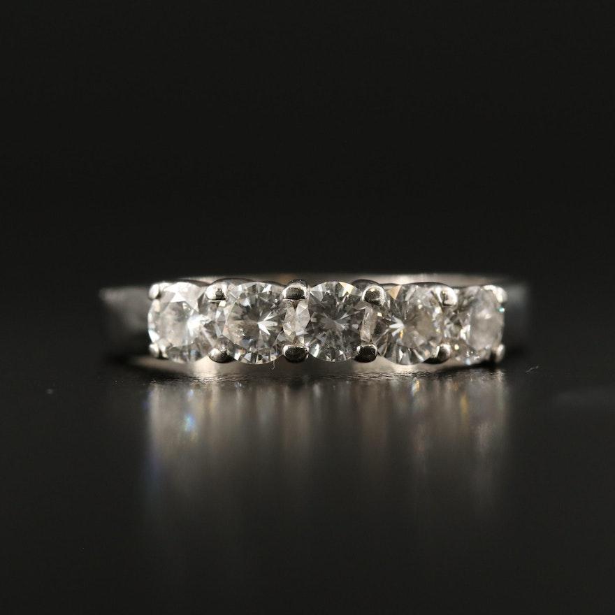 Platinum 1.05 CTW Diamond Peakaboo Ring
