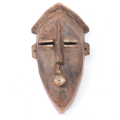 LwaLwa Style Hand-Carved Wooden Mask, Central Africa