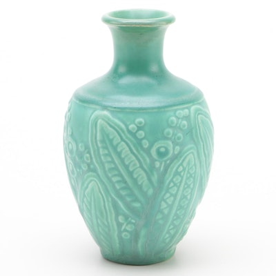 Rookwood Pottery Matte Green Glaze Production Vase, 1935